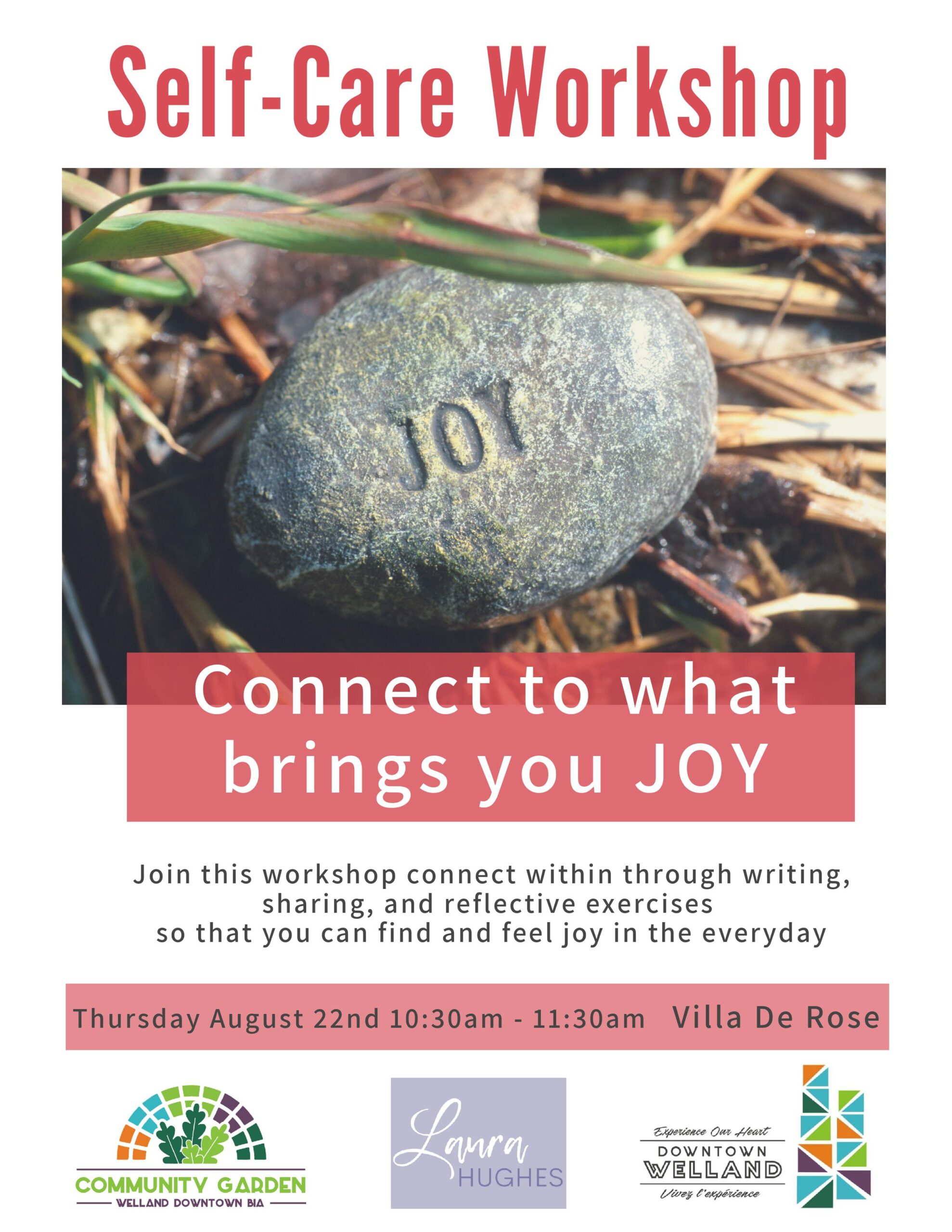 Welland Downtown BIA Seniors Self-Care Workshop
