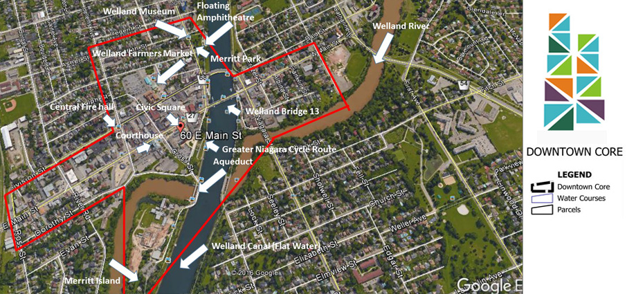 Welland Downtown BIA Catchment Area