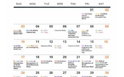 October 2021 Bridge Lighting Schedule